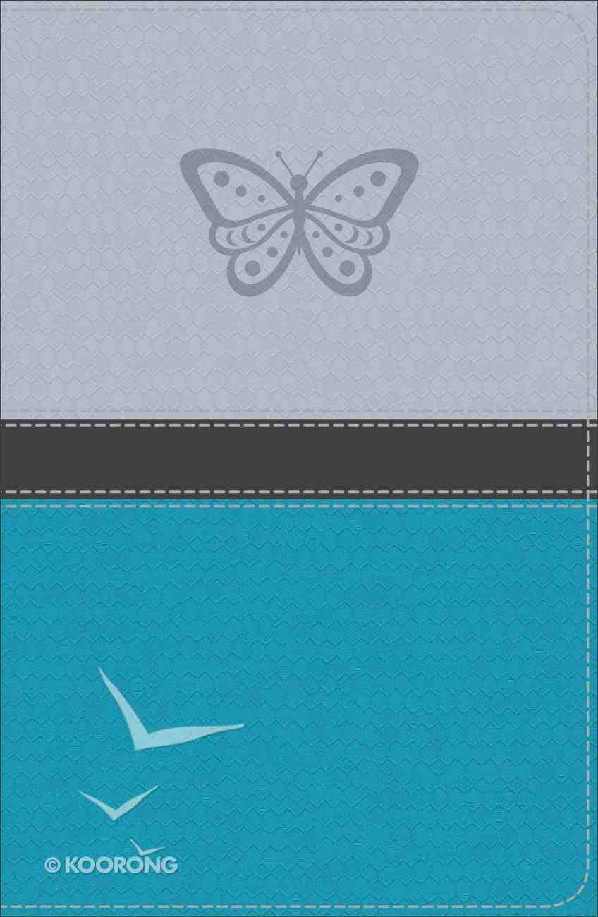 KJV Study Bible For Girls Silver/Teal Butterfly Design (Red Letter Edition) Imitation Leather