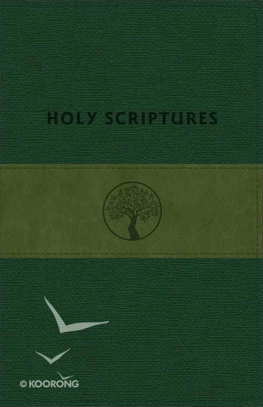 Tlv Personal Size Giant Print Reference Holy Scriptures Bible Grove/Olive Imitation Leather