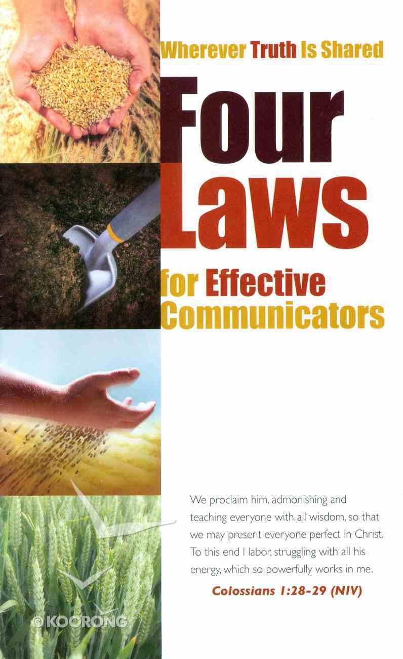 Four Laws For Effective Communicators Booklet