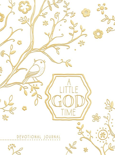 Product: Little God Time, A: Devotional Journal, A (Gold/white) Image