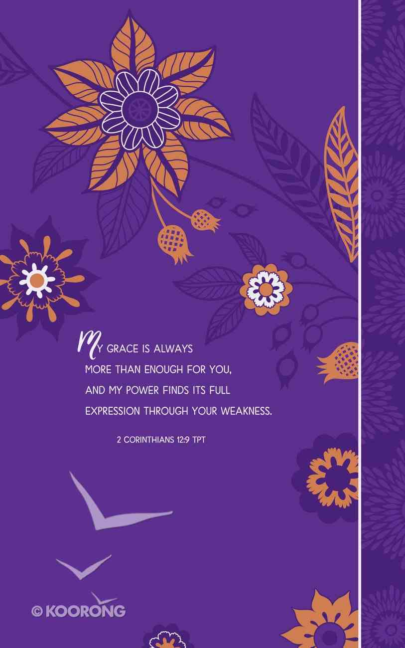 Guided Journal: Amazing Grace Purple Floral With Elastic Band Imitation Leather