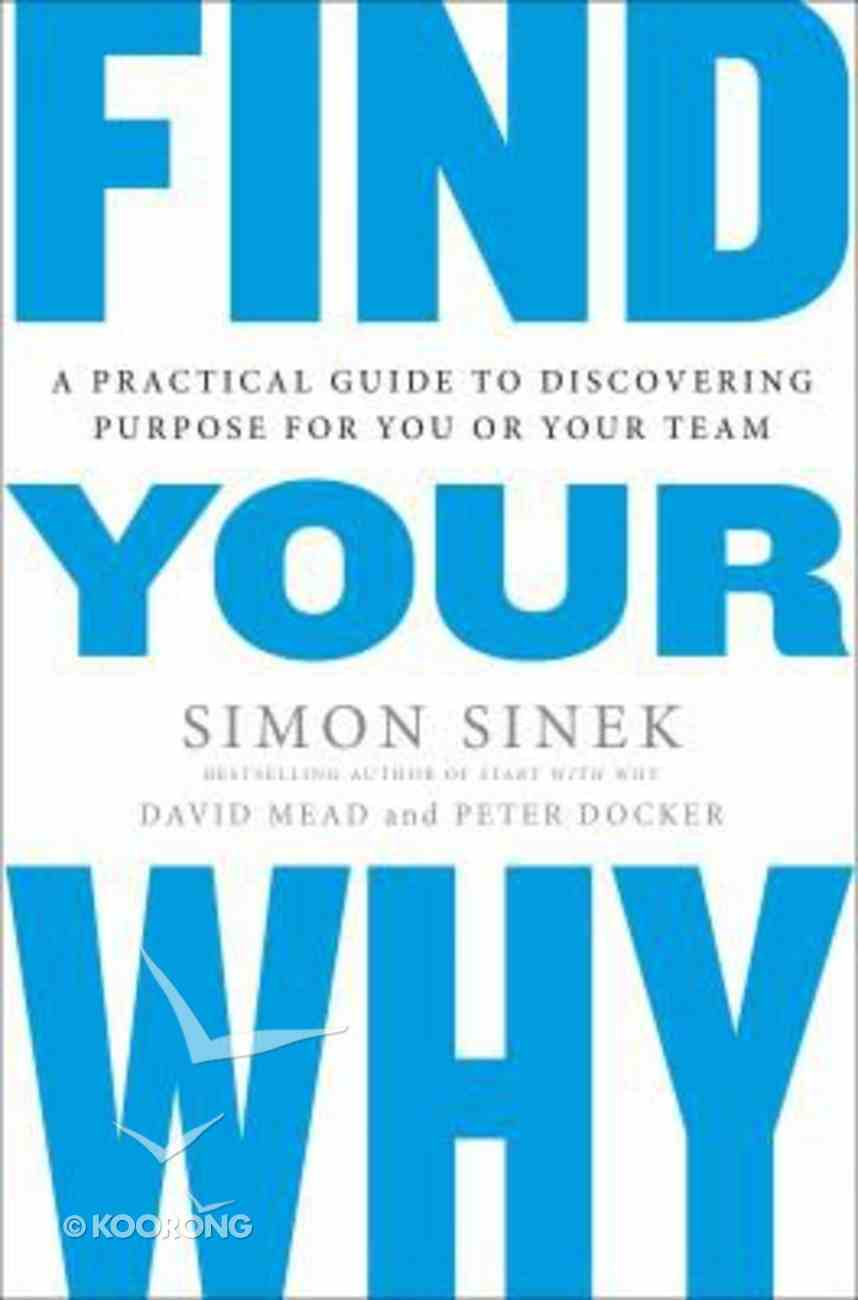 Find Your Why Paperback