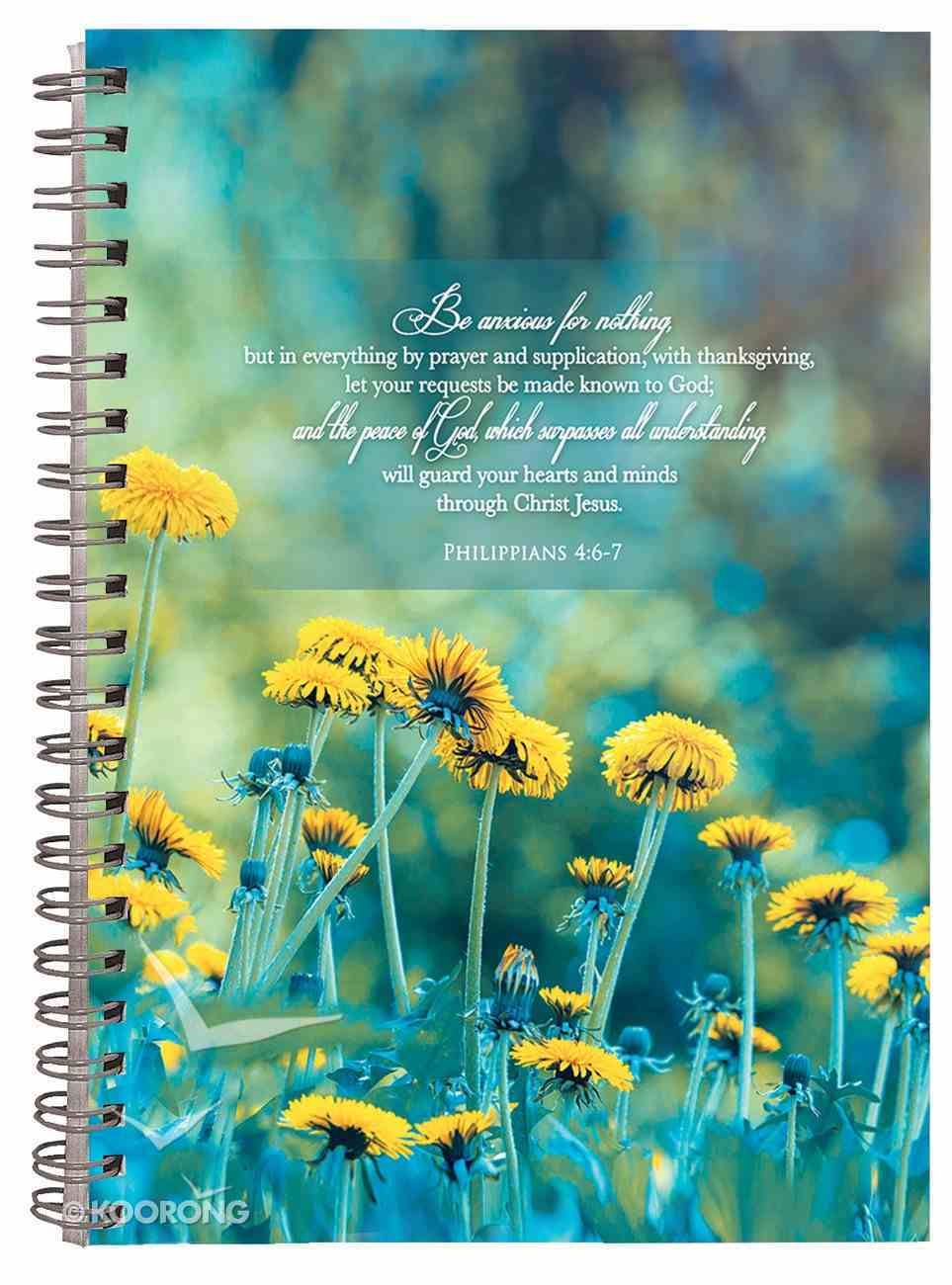 Journal: Flowers Be Anxious For Nothing Spiral