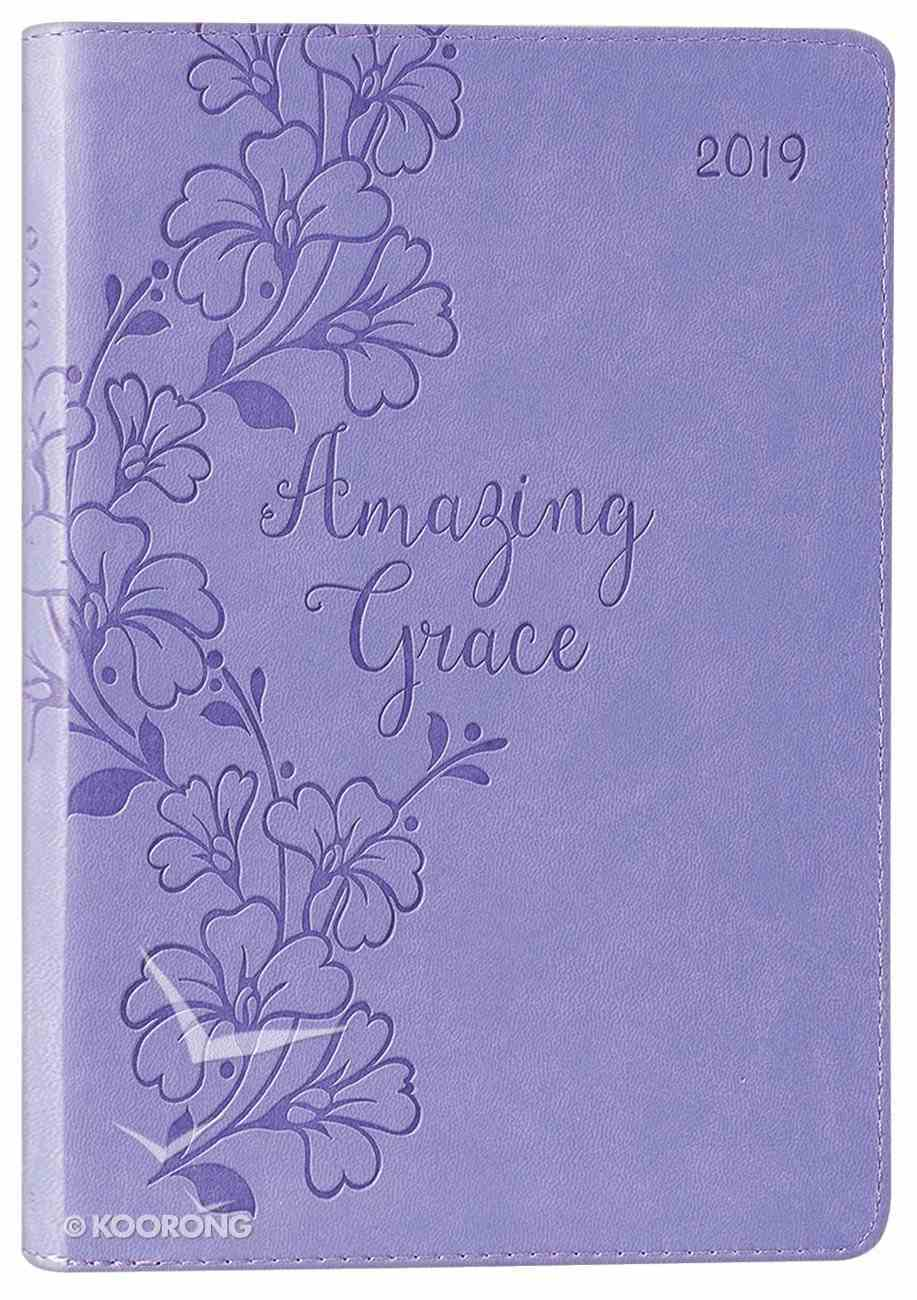 2019 Executive 12-Month Diary/Planner: Amazing Grace, Purple Imitation Leather