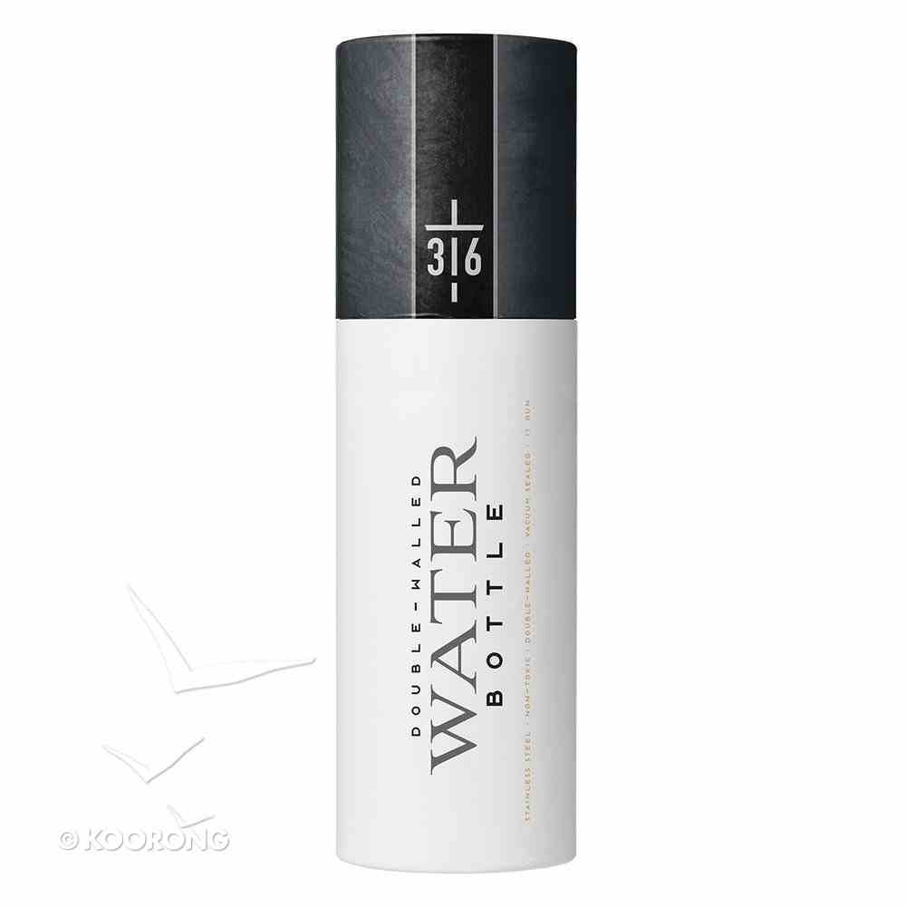 Water Bottle 500ml Stainless Steel: John 3:16 Cross, Matte Charcoal Homeware