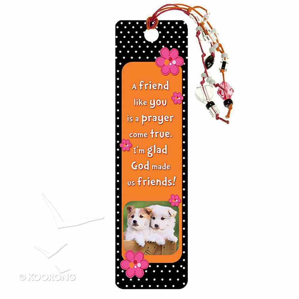 Bookmark With Beaded Tassel: A Friend Like You Stationery