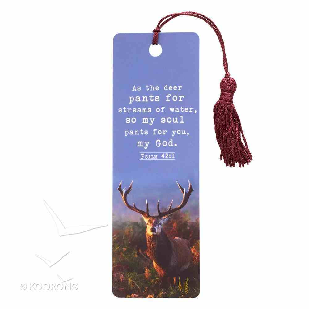 Bookmark With Tassel: As the Deer Pants For Streams of Water..... Stationery