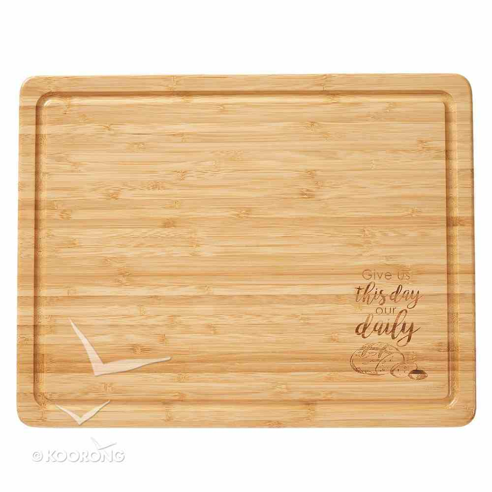 Bamboo Large Wooden Cutting Board: Give Us This Day..... Homeware