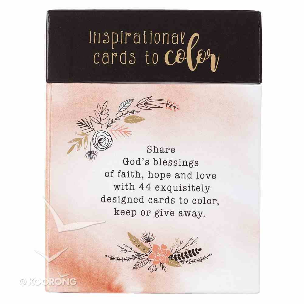 Adult Boxed Colouring Cards: Faith, Hope, Love Box