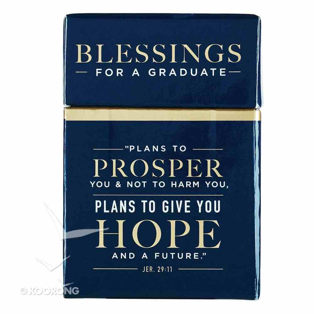 Box of Blessings: For I Know the Plans I Have For You, Blessings For a Graduate Box
