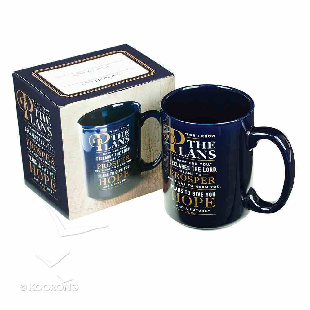 Ceramic Mug: For I Know the Plans I Have For You, Black/White (414ml) Homeware