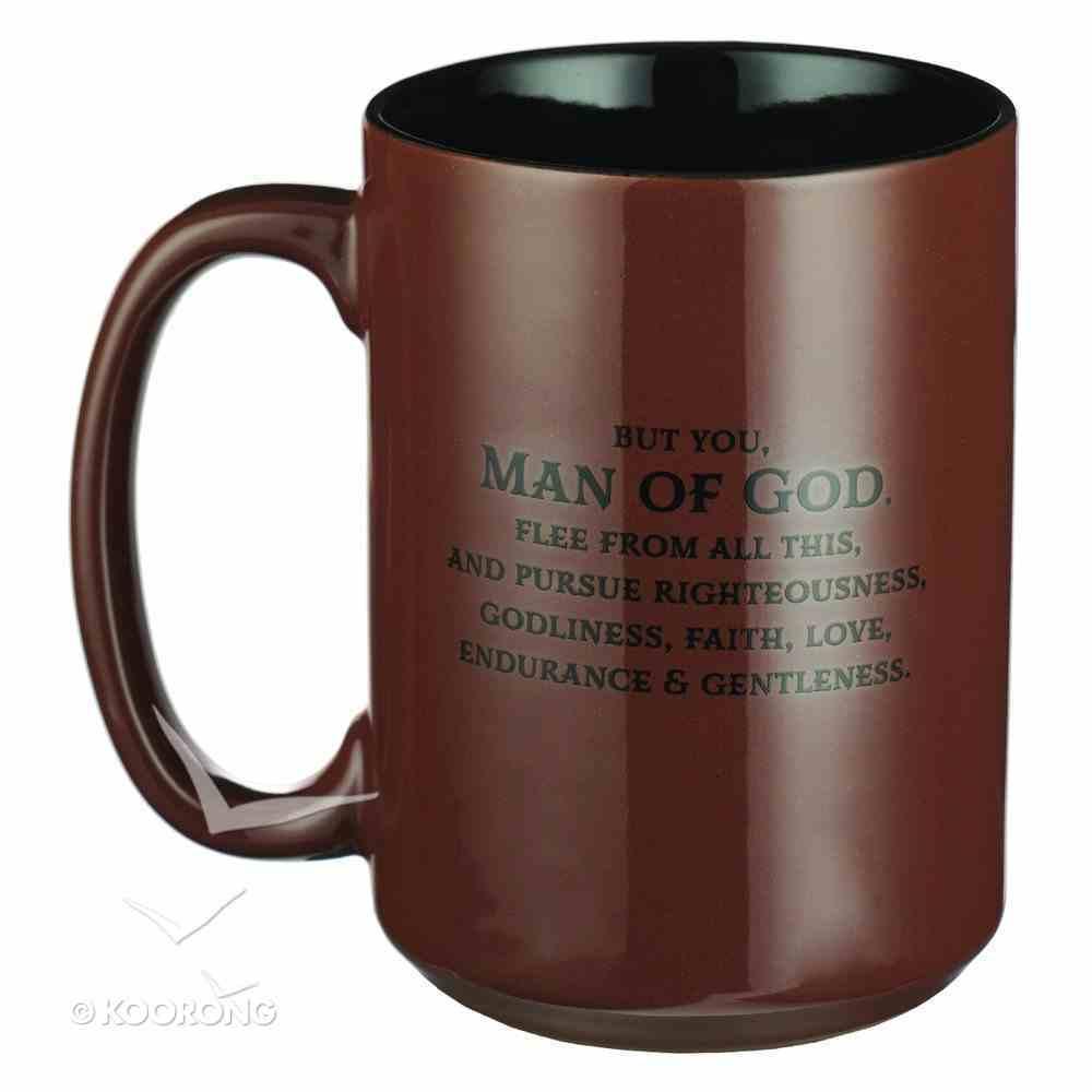 Ceramic Mug: Man of God, Brown/Black (414ml) Homeware