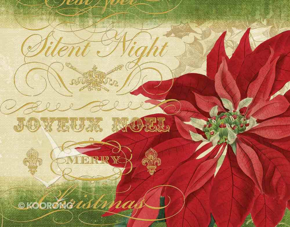 Christmas Boxed Cards: Silent Night Poinsettia, Scripture Box