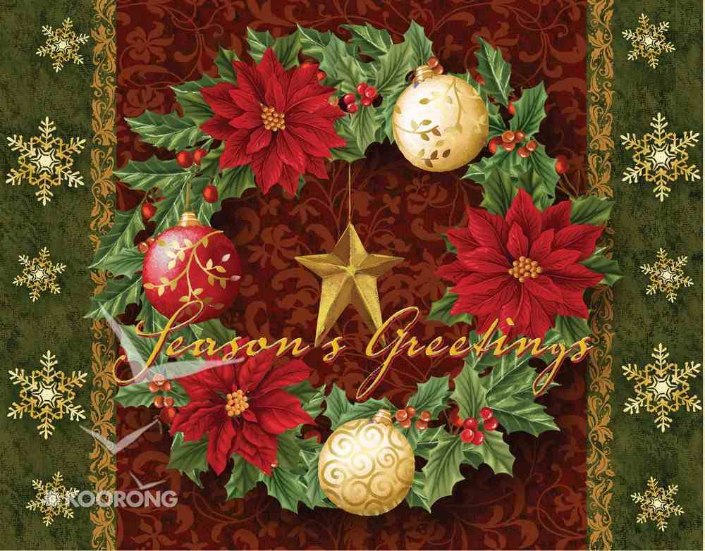 Christmas Boxed Cards: Season's Greetings Wreath, Scripture Box