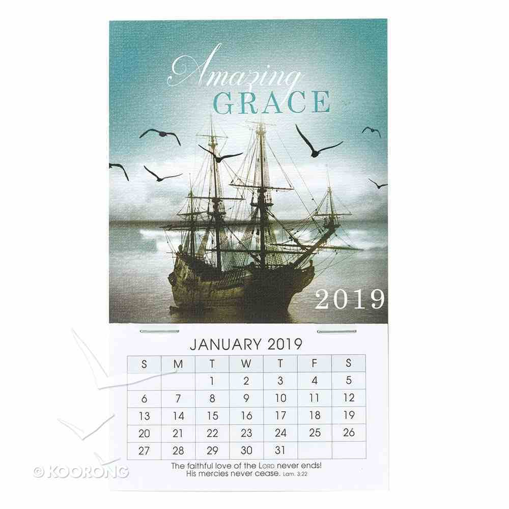 2019 Mini Magnetic Calendar: Amazing Grace, Sailing Ship Calendar