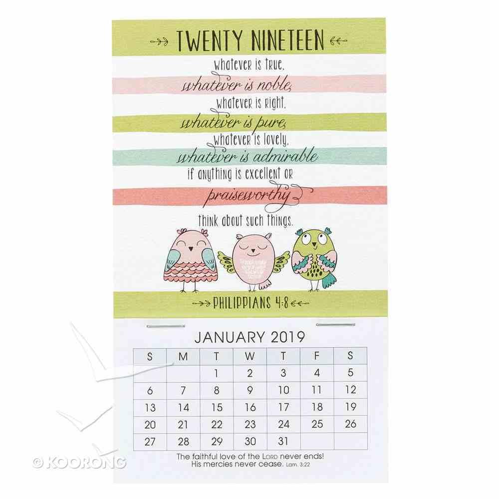 2019 Mini Magnetic Calendar: Whatever is True, Whatever is Noble..... Calendar