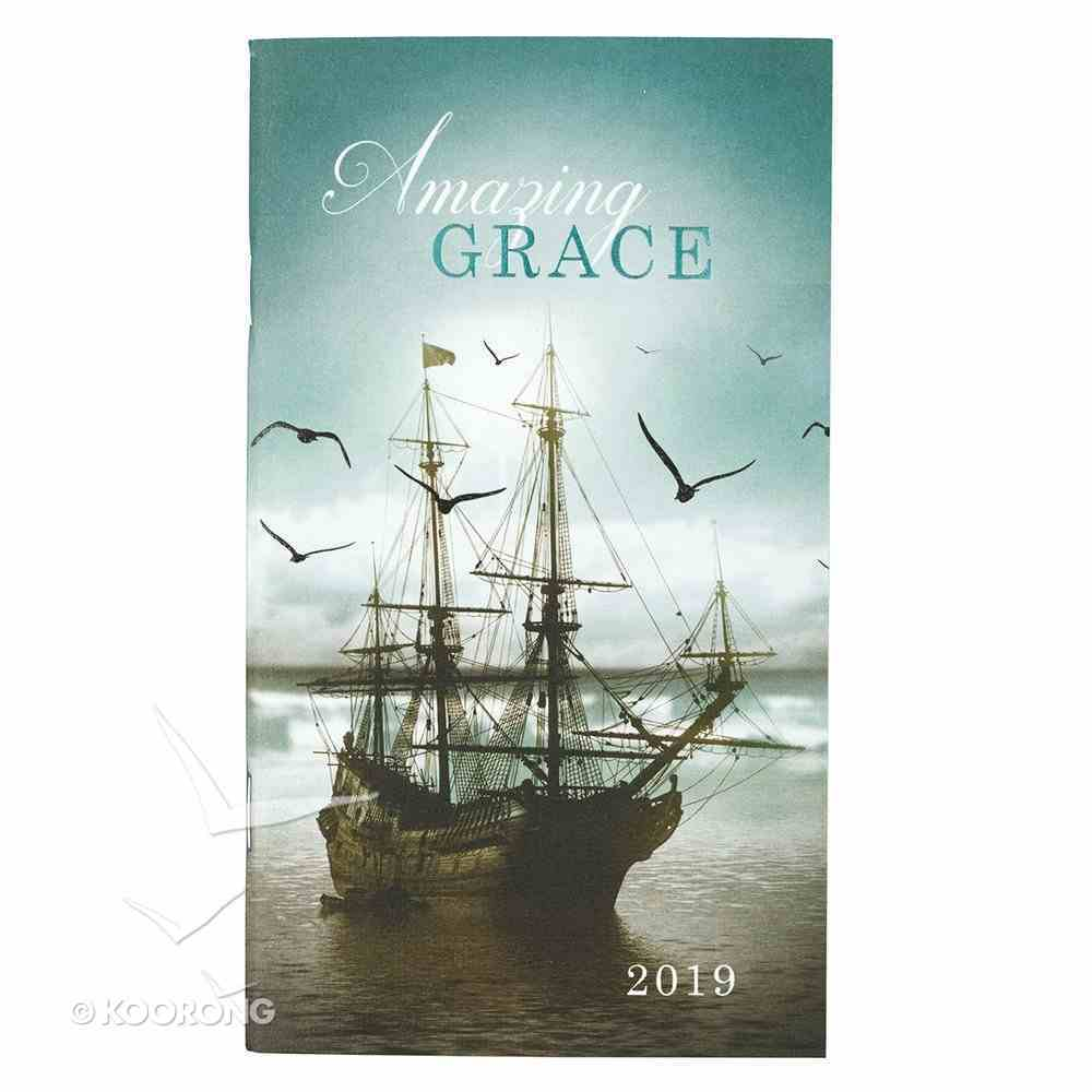 2019 Small Daily Diary/Planner: Amazing Grace, Sailing Ship Paperback