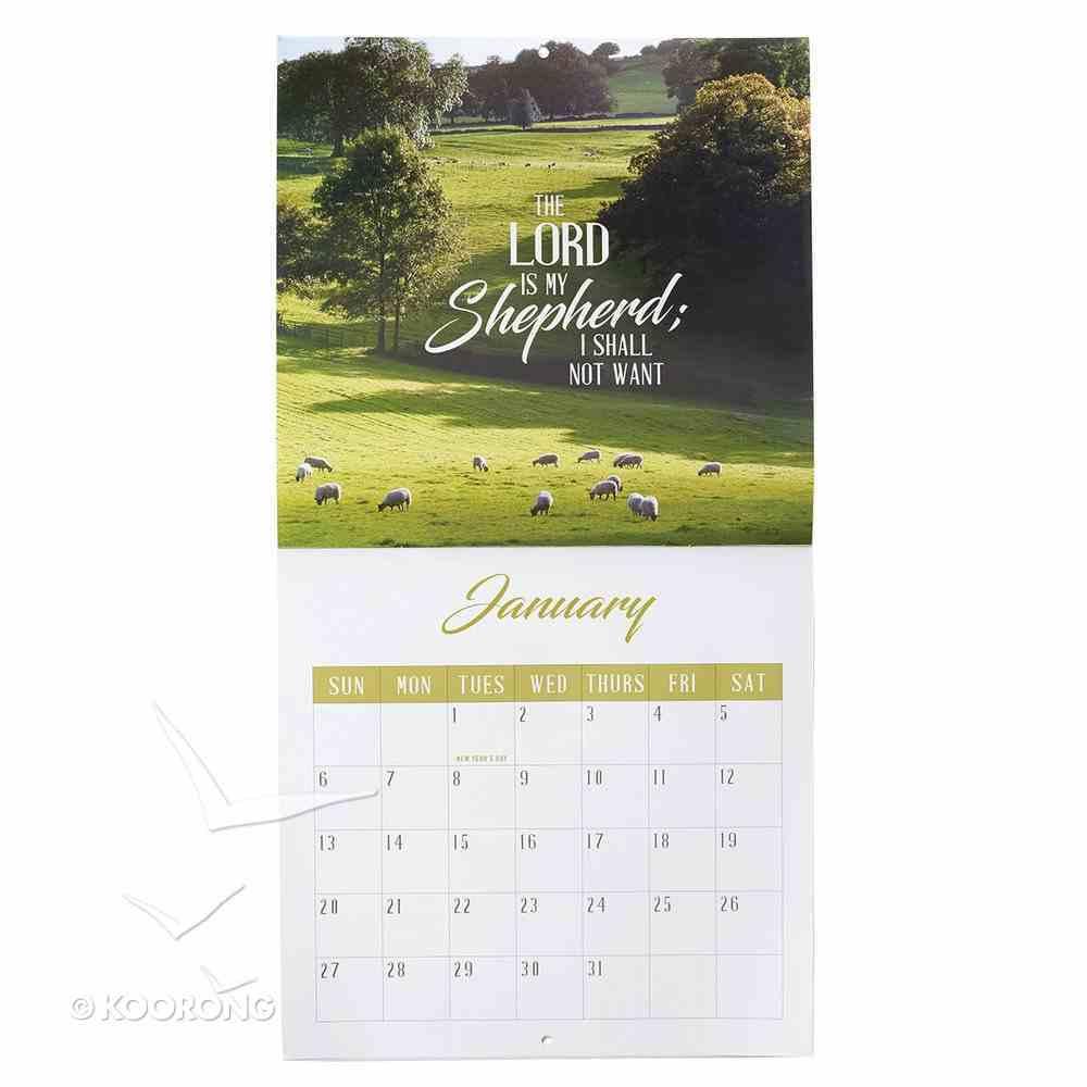 2019 Large Calendar: The Lord is My Shepherd Calendar