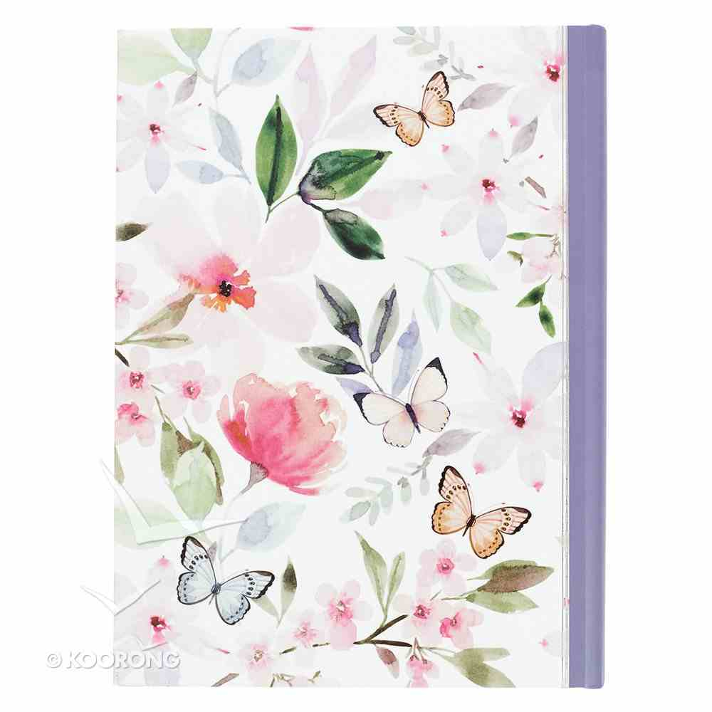 2019 12-Month Daily Diary/Planner For Women: Believe, Pink Flowers/Butterfly Hardback