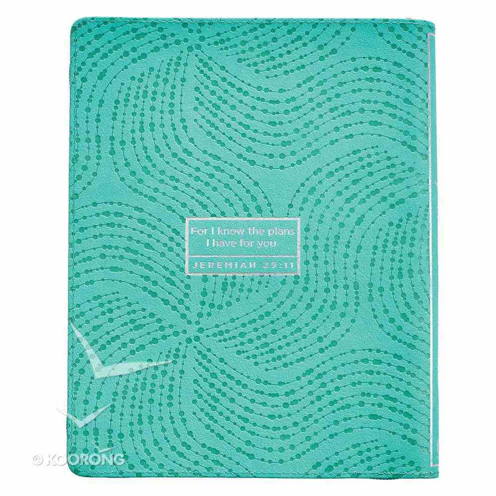2019 Large 18-Month Diary Planner: Green Imitation Leather