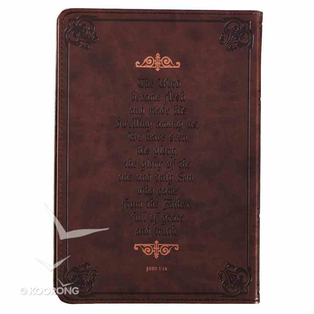 Journal: Names of Jesus, Dark/Light Brown Imitation Leather