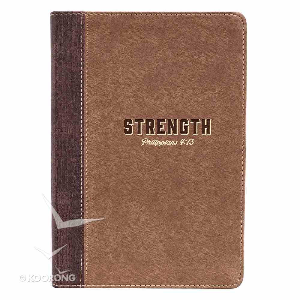 Thinline Journal: Strength, Brown/Tan Luxleather (Phil 4:13) Imitation Leather