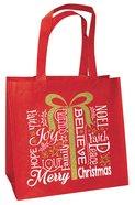 Christmas Eco Tote Bag Gold Ink: Present Believe Joy Faith Hope Love Noel Merry Christmas Soft Goods