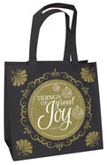 Christmas Eco Tote Bag Gold Ink Glitter: Tidings of Great Joy Soft Goods