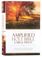 Amplified Holy Bible Large Print (Black Letter Edition) Hardback
