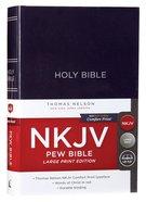 NKJV Pew Bible Large Print Blue (Red Letter Edition) Hardback