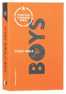 CSB Study Bible For Boys Orange/Grey (Red Letter Edition) Paperback