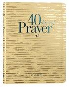 40 Days of Prayer (Workbook) Imitation Leather