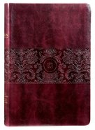 TPT New Testament Large Print Burgundy (With Psalms Proverbs And The Song Of Songs) Imitation Leather