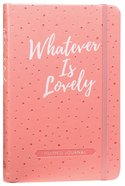 Guided Journal: Whatever Is Lovely (Pink/white Dots) image