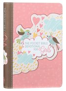 Pocket Bible Devotional For Girls: 366 Daily Readings Birds, Pink Hearts Imitation Leather