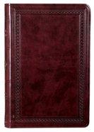 ESV Large Print Value Thinline Bible Mahogany Border (Black Letter Edition) Imitation Leather