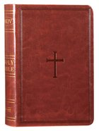 NKJV Large Print Compact Reference Bible Brown Red Letter Edition Imitation Leather