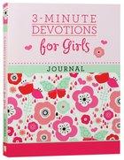3-Minute Devotions For Girls Journal Spiral