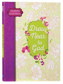 Product: Adult Coloring Devotional: Draw Near To God Image