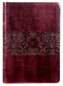 Product: Tpt New Testament With Psalms Proverbs And Song Of Songs (Large Print) Burgundy Image