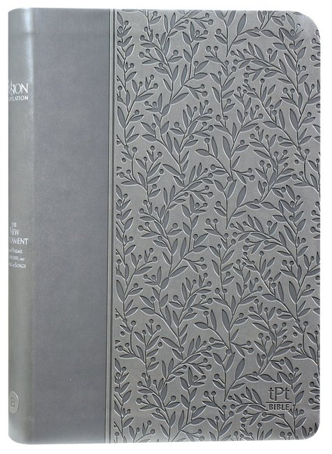 Product: Tpt New Testament Gray With Psalms Proverbs & Song Of Songs 2nd Edition (Black Letter Edition) Image