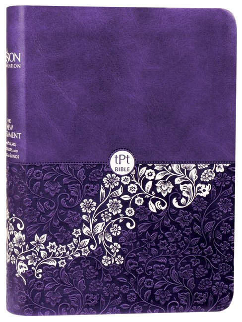 Product: Tpt New Testament Compact Violet With Psalms Provers And Song Of Songs (Black Letter Edition) Image