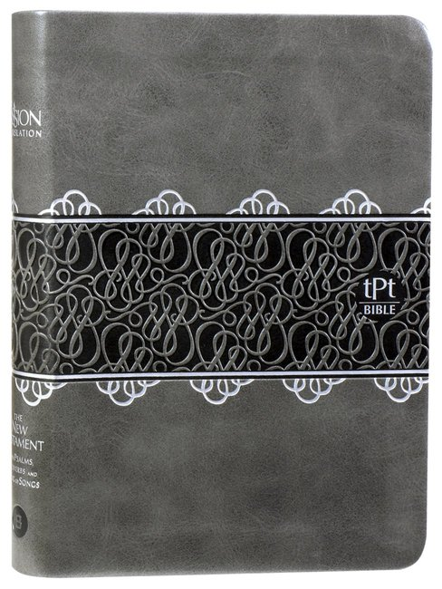 Product: Tpt New Testament Compact Charcoal With Psalms Proverbs & Song Of Songs (Black Letter Edition) Image