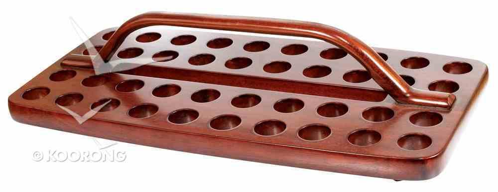 Communion Tray 40 Hole Wooden Rectangular Church Supplies