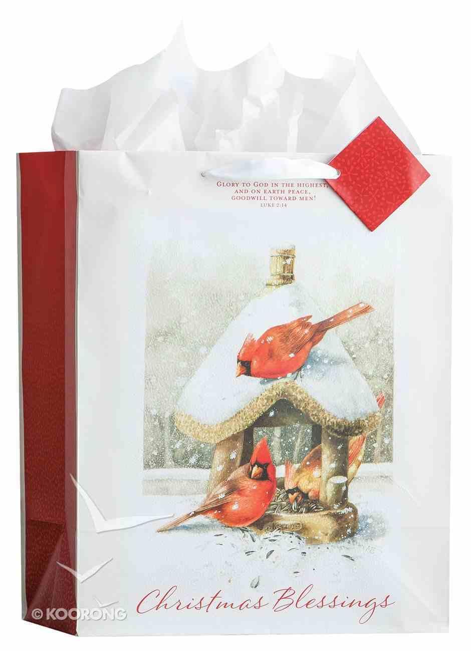 Christmas Gift Bag Large: Christmas Blessings Luke 2:14 NKJV (Incl Two Sheets Of Tissue Paper) Stationery