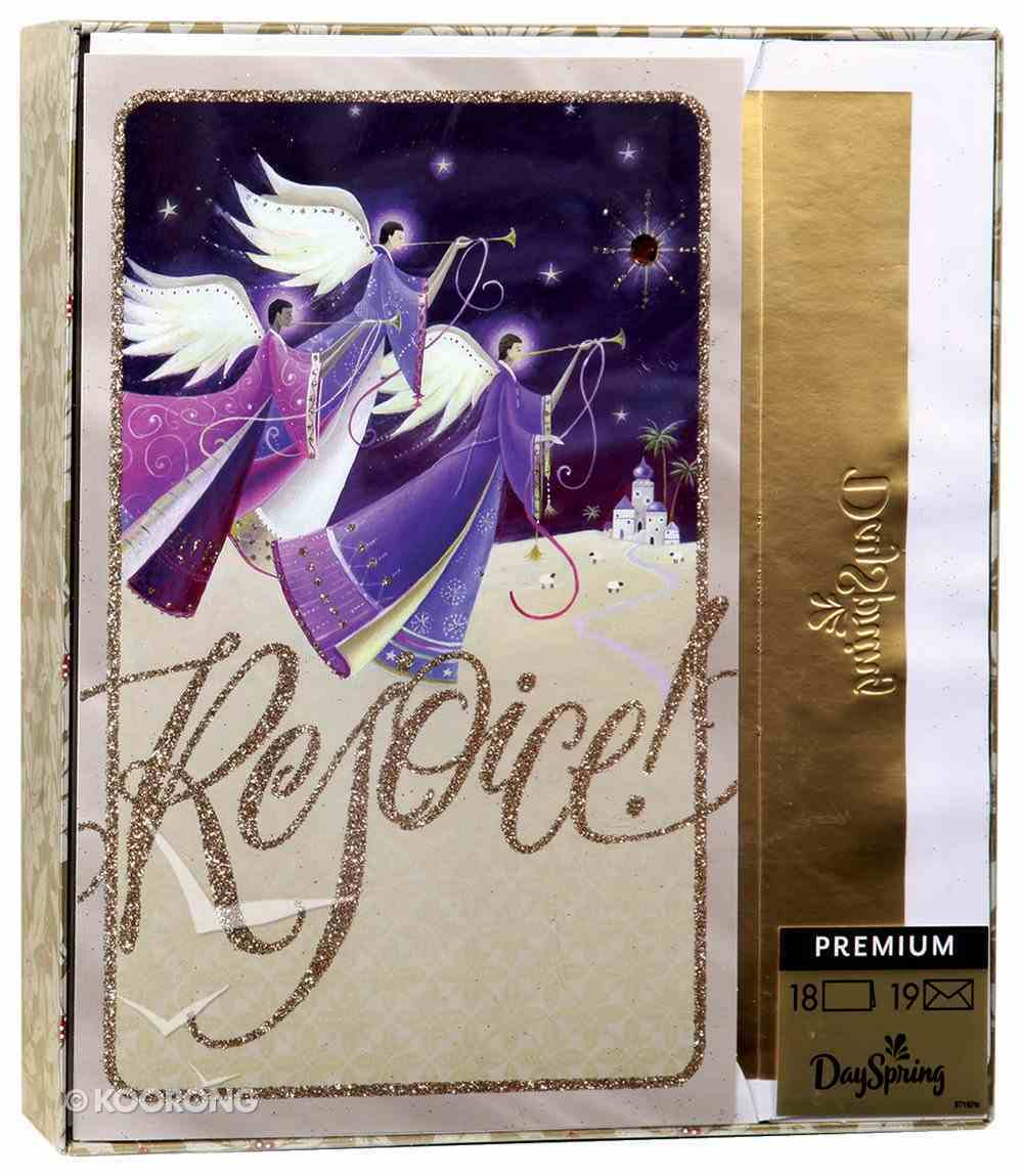 Christmas Premium Boxed Cards: Rejoice Angels (Luke 2:10 Kjv) Box