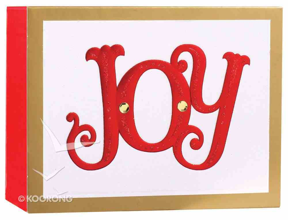 Christmas Match Boxed Cards: Joy (Romans 15:13 Kjv) Cards