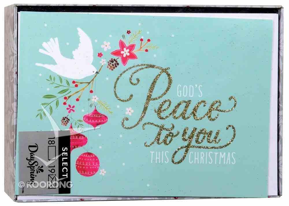 Christmas Boxed Cards: Peace Dove (John 1:14 Kjv) Box