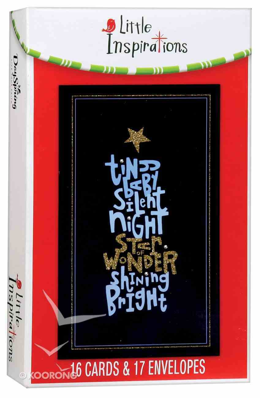 Christmas Boxed Cards Little Inspirations: Tiny Baby Silent Night Box