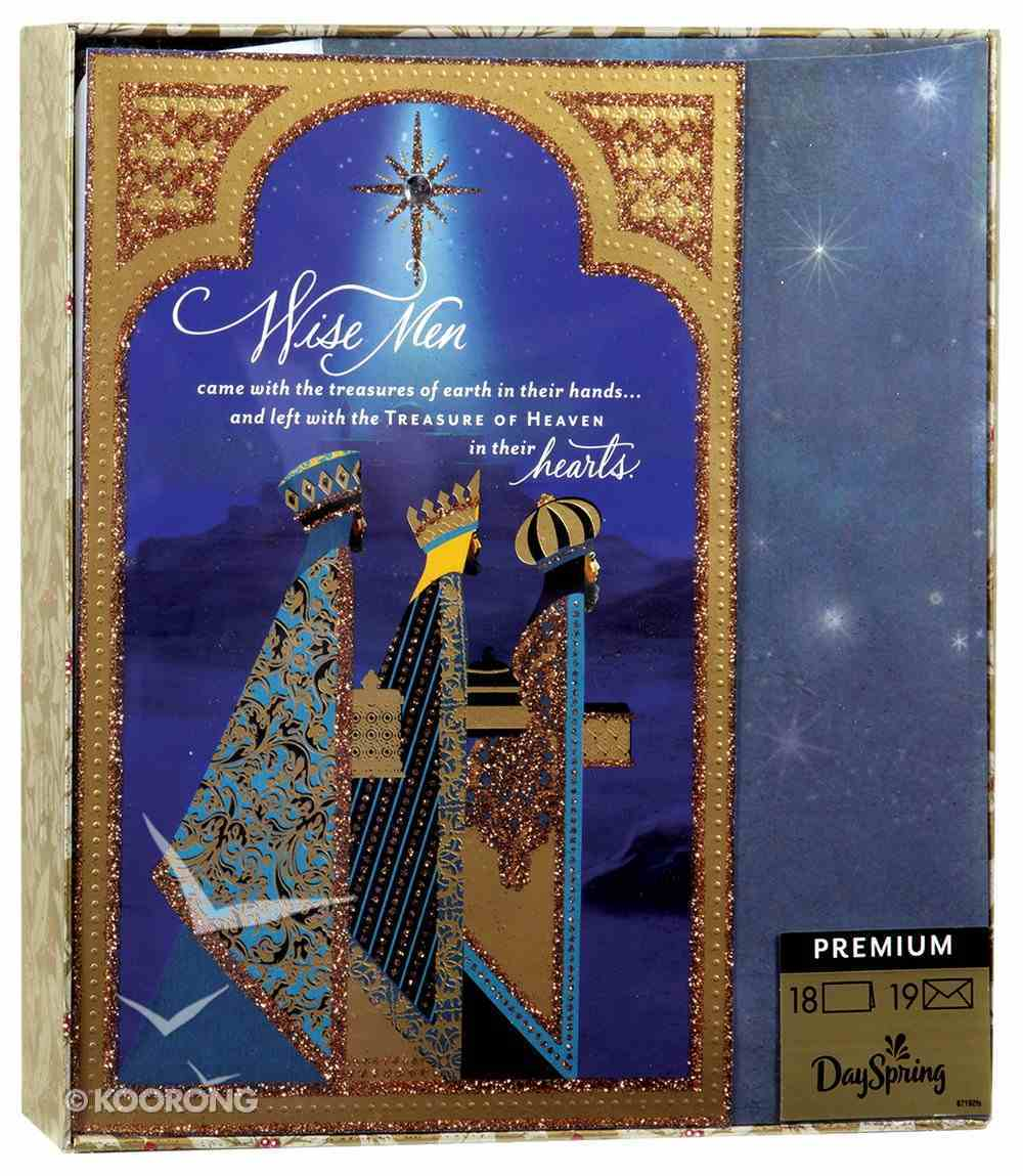Christmas Premium Boxed Cards: Wisemen (Matthew 6:21) Box